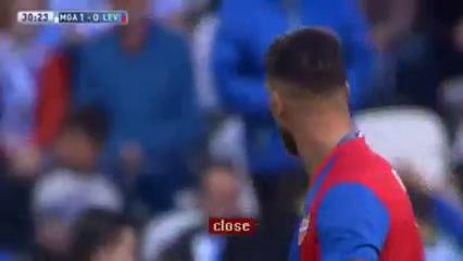 Málaga 3-1 Levante - Golo de D. Čop (30min)