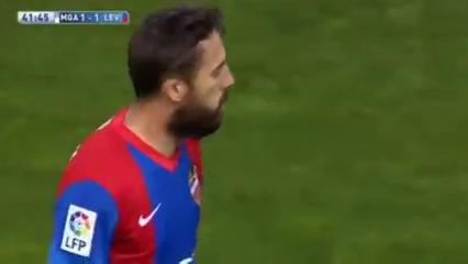 Málaga 3-1 Levante - Golo de José Luis Morales (42min)