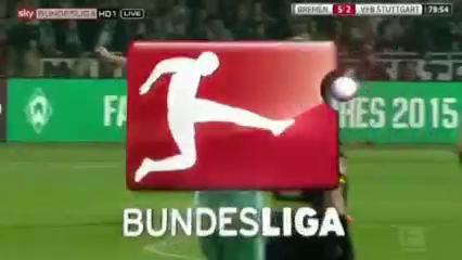Werder Bremen 6-2 Stuttgart - Golo de F. Bartels (80min)