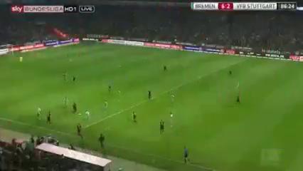 Werder Bremen 6-2 Stuttgart - Golo de A. Ujah (86min)