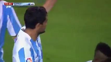 Málaga 3-1 Levante - Golo de G. Castro (90+3min)