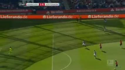 Hannover 96 1-0 Hoffenheim - Golo de H. Kiyotake (28min)