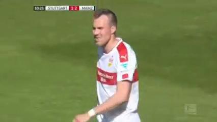 Stuttgart 1-3 Mainz 05 - Golo de J. Córdoba (53min)