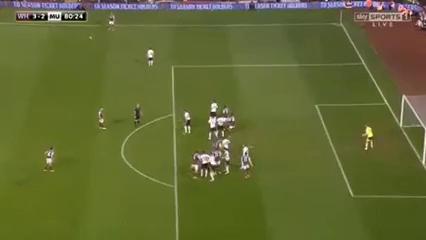 West Ham United 3-2 Manchester United - Golo de W. Reid (80min)