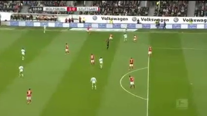 Wolfsburg 3-1 Stuttgart - Golo de M. Arnold (11min)