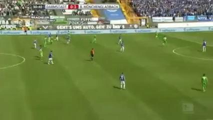 Darmstadt 98 0-2 Borussia M'gladbach - Golo de T. Hazard (31min)