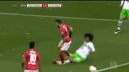 Wolfsburg 3-1 Stuttgart - Golo de A. Schürrle (29min)