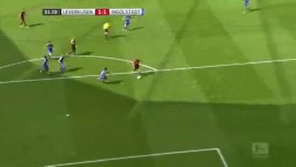 Bayer Leverkusen 3-2 Ingolstadt - Golo de C. Aránguiz (31min)