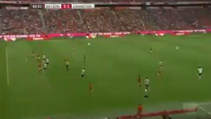Bayern München 3-1 Hannover 96 - Golo de A. Sobiech (66min)