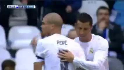 Deportivo La Coruña 0-2 Real Madrid - Golo de Cristiano Ronaldo (7min)