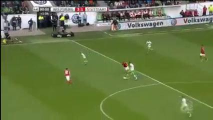 Wolfsburg 3-1 Stuttgart - Golo de A. Schürrle (90+2min)