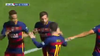 Granada 0-3 Barcelona - Golo de L. Suárez (22min)