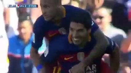 Granada 0-3 Barcelona - Golo de L. Suárez (38min)