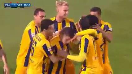 Palermo 3-2 Hellas Verona - Golo de F. Viviani (48min)
