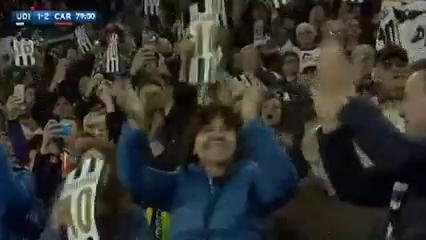 Udinese 1-2 Carpi - Golo de A. Di Natale (79min)