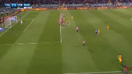Palermo 3-2 Hellas Verona - Golo de E. Pisano (84min)