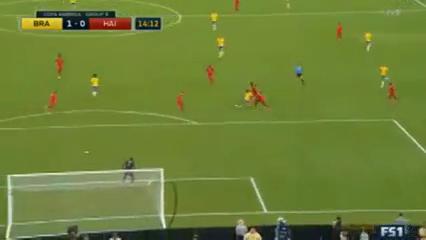 Brazil 7-1 Haiti - Golo de Philippe Coutinho (14min)