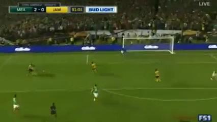 Mexico 2-0 Jamaica - Golo de O. Peralta (81min)