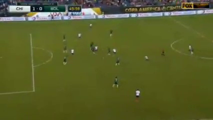Chile 2-1 Bolivia - Golo de A. Vidal (46min)
