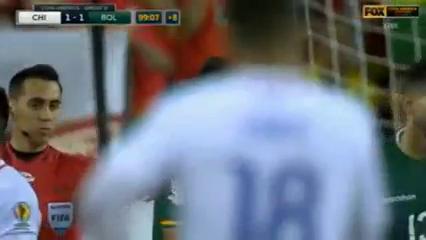 Chile 2-1 Bolivia - Golo de A. Vidal (90+10min)