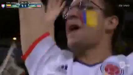 Colombia 2-3 Costa Rica - Golo de F. Fabra (6min)