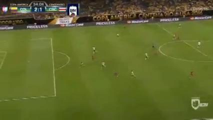 Colombia 2-3 Costa Rica - Golo de F. Fabra (34min)