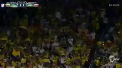 Colombia 2-3 Costa Rica - Golo de M. Moreno (73min)