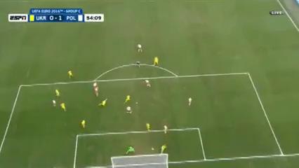 Ukraine 0-1 Poland - Golo de J. Błaszczykowski (54min)