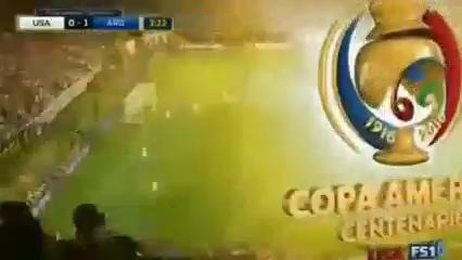United States 0-4 Argentina - Golo de E. Lavezzi (3min)