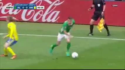 Ирландия - Швеция 1:1 видео
