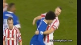 Stoke vs Everton - (Fellaini vs Shawcross)