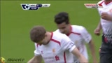 0-1 Gerrard (P) 44'- West Ham 1-2 Liverpool