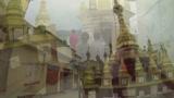 Buddhista kolostor a Taung Kalat tetején