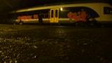 Graffitisek a vas�ti kocsi ellen