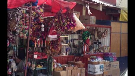 Karácsonyfa vásárlás strandpapucsban