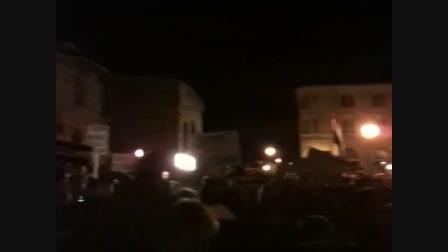 Tüntetés a Várban