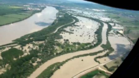 Légi felvételek a Duna áradásáról